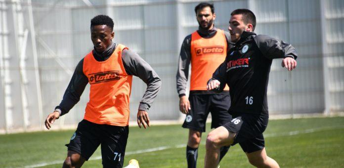 Konyaspor, 4 eksikle Erzurumspor maçı hazırlıklarını sürdürdü