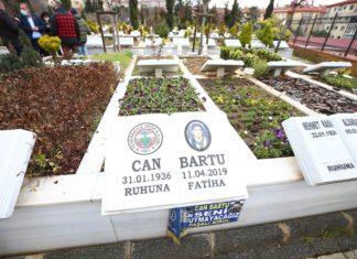 Fenerbahçe efsanesi Can Bartu, kabri başında anıldı