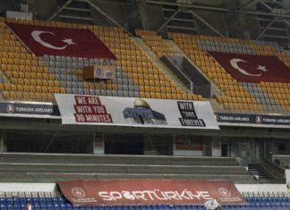 Başakşehir-Kayserispor maçında Filistin unutulmadı
