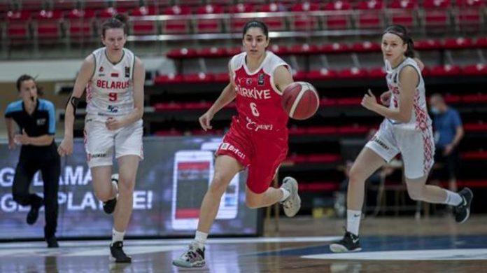 20 Yaş Altı Kız Basketbol Milli Takımı, Belarus'u farklı geçti