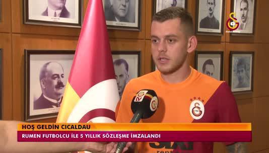 Galatasaray'ın yeni transferi Cicaldau: Hagi ve Popescu'nun izinden gideceğim!