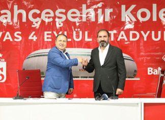 Bahçeşehir Koleji, Sivasspor'un maçlarını oynadığı Yeni 4 Eylül Stadyumu'na isim sponsoru oldu