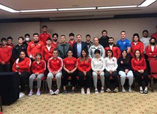 Judo Federasyonu Başkanı Sezer Huysuz, milli takımlar kampını ziyaret etti